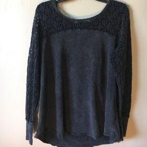 Lace Sleeve Shirt